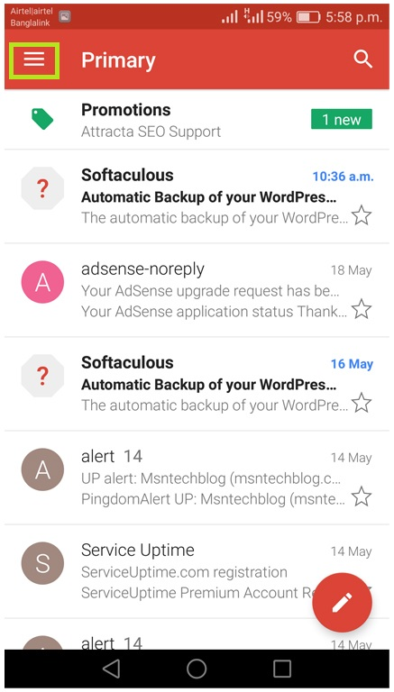 Gmail setting to disable email notifications