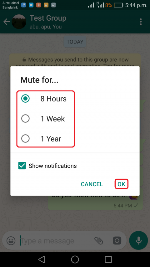 Turn off/mute Whatsapp group notification on Android ...