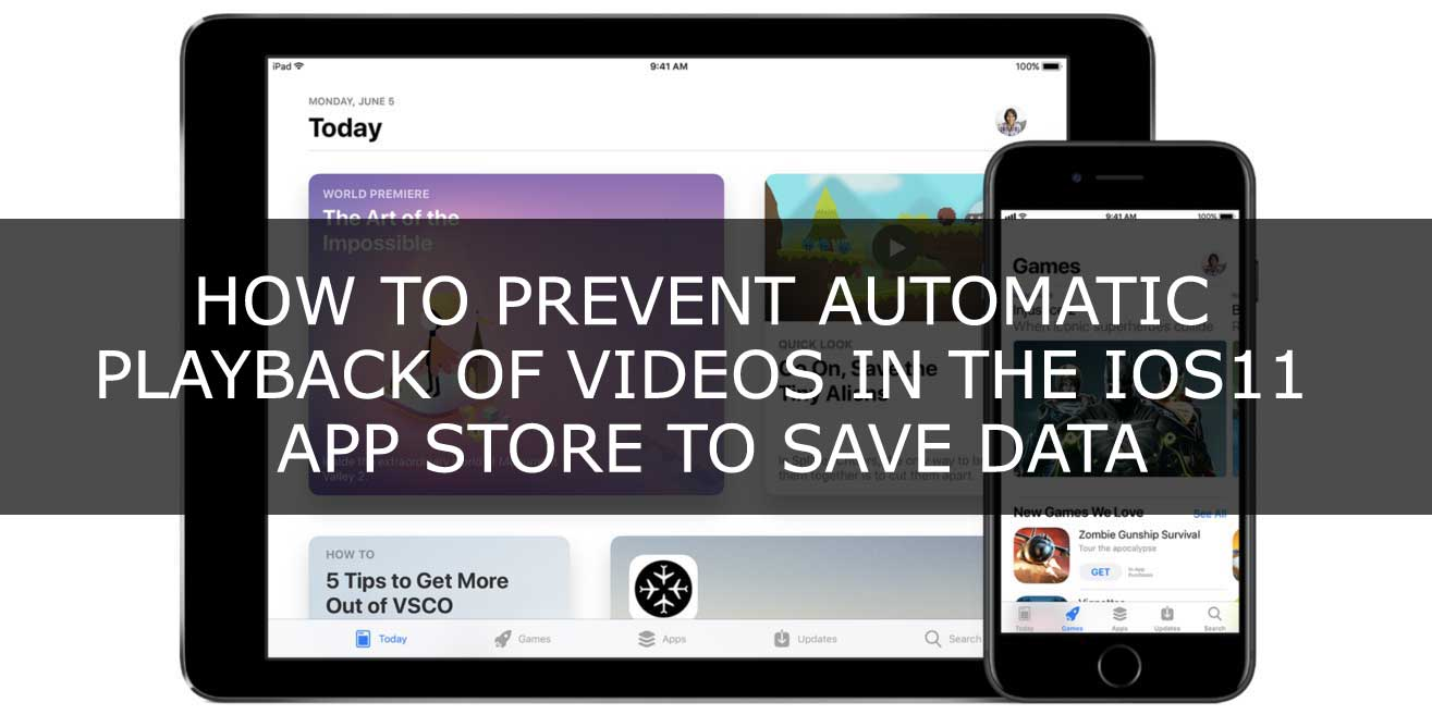 Prevent automatic playback of videos in the ios11 app store to save data