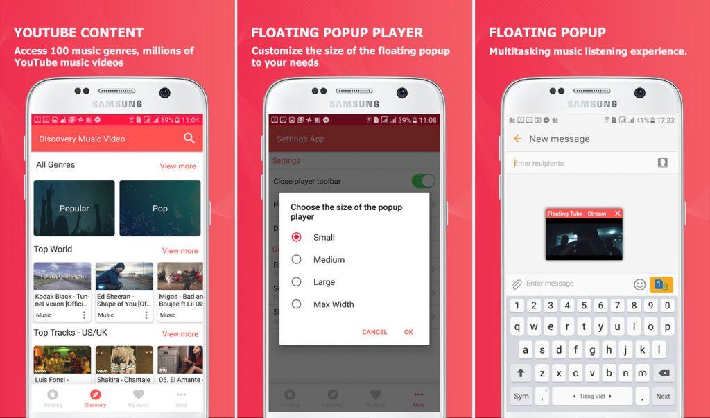 Stream Tube Floating Player App