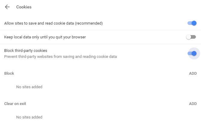 Beware of browsing cookies