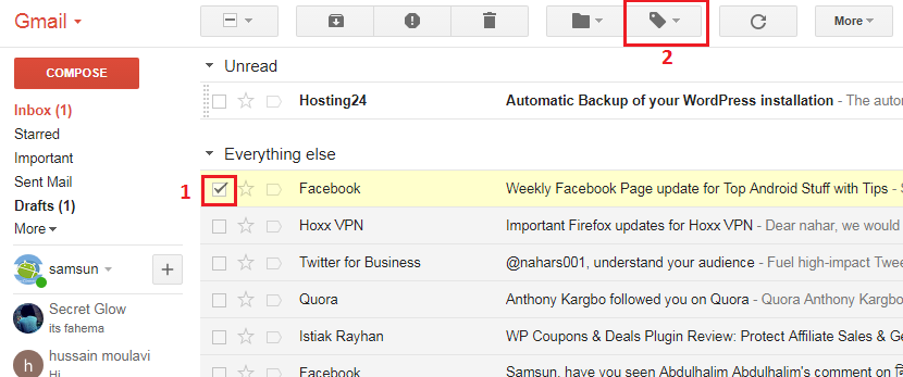 How to create labels in Gmail 1