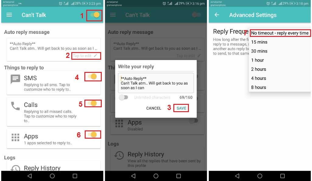 WhatsApp auto reply Android