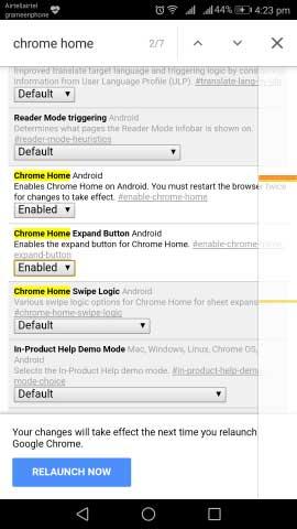 Drop chrome url bar down step5
