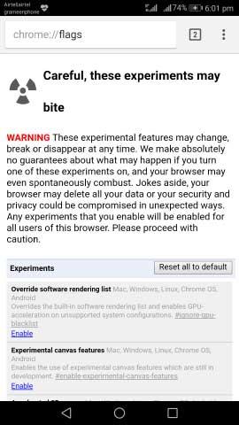 Move Chrome URL bar down step1